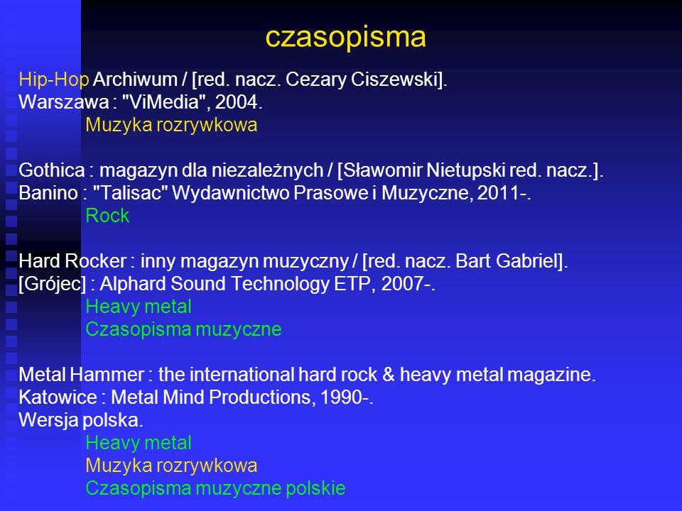 czasopisma Hip-Hop Archiwum / [red. nacz. Cezary Ciszewski].